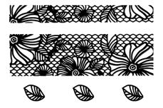 Jolifin LAVENI Lace Sticker - Black 1