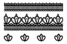 Jolifin LAVENI Lace Sticker - Black 2