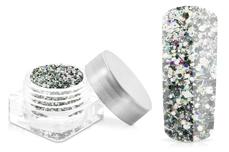 Jolifin Illusion Glitter IX - silver glam