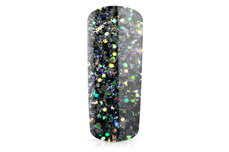 Jolifin Illusion Glitter IX - black rainbow