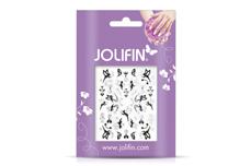 Jolifin Silver-Black Nailart Sticker 2