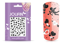 Jolifin Silver-Black Nailart Sticker 7