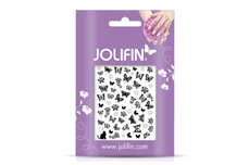 Jolifin Silver-Black Nailart Sticker 8