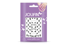 Jolifin Silver-Black Nailart Sticker 9