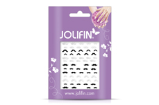 Jolifin Silver-Black Nailart Sticker 10