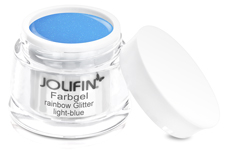 Jolifin Farbgel rainbow Glitter light-blue 5ml