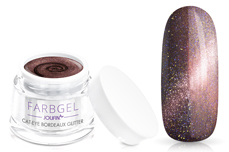 Jolifin Cat-Eye Farbgel bordeaux Glitter 5ml
