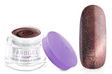 Jolifin Cat-Eye Farbgel bordeaux Glitter 5ml