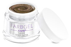 Jolifin Cat-Eye Farbgel goldy Glitter 5ml