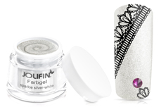Jolifin Farbgel sparkle silver-white 5ml