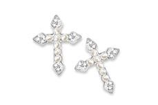 Jolifin Overlay pearl cross