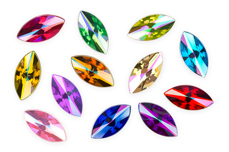 Jolifin Strass-Display - rainbow colors