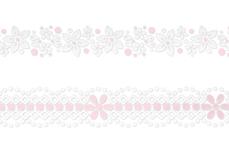 Jolifin Lace Sticker - Pink-White 2
