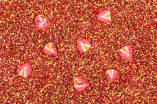 Jolifin Glitter Fruit - red strawberry