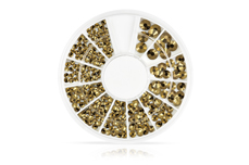 Jolifin Strass-Display metallic gold