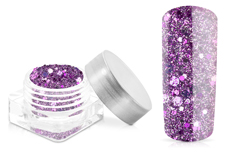 Jolifin Hexagon Glittermix purple-lilac