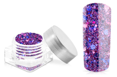 Jolifin Hexagon Glittermix pink-blue