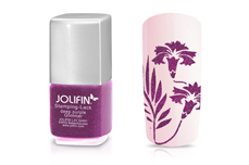 Jolifin Stamping-Lack - deep purple Glimmer 12ml