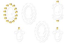 Jolifin Golden Glam Sticker 15