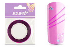 Jolifin Glitter Pinstripes pink 1mm