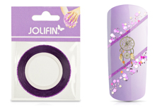 Jolifin Glitter Pinstripes lila 1mm