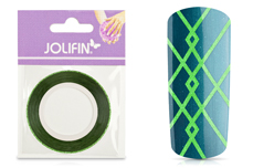 Jolifin Glitter Pinstripes grün 1mm