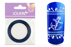 Jolifin Glitter Pinstripes blau 1mm