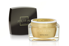 Jolifin LAVENI Farbgel - metal gold 5ml