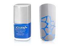 Jolifin Stamping-Lack - neon-nightblue Glimmer 12ml