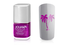 Jolifin Stamping-Lack - neon-purple Glimmer 12ml