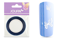 Jolifin Glitter Pinstripes blau 2mm
