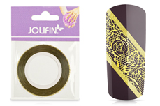 Jolifin Glitter Pinstripes gold 2mm