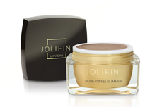 Jolifin LAVENI Farbgel - nude-coffee Glimmer 5ml