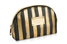 Jolifin LAVENI Cosmetic Bag - golden stripes