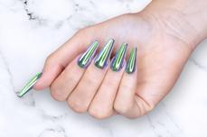 Jolifin Mirror-Chrome Pigment - FlipFlop pink & smaragd