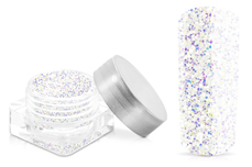 Jolifin White Sparkle Powder irisierend grob