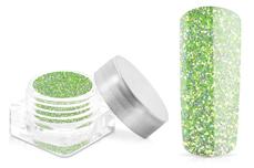 Jolifin Glitterpuder - hologramm green