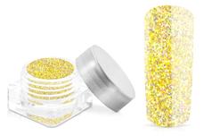 Jolifin Glitterpuder - hologramm yellow