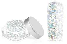 Jolifin Hexagon Glitter white rainbow
