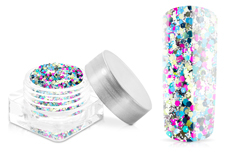 Jolifin Hexagon Glittermix multicolor