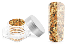 Jolifin Hexagon Glittermix bronze-gold