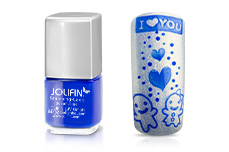 Jolifin Stamping-Lack - ocean-blue 12ml