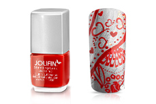 Jolifin Stamping-Lack - cherry-red 12ml