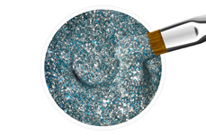 Jolifin Farbgel silver-blue Glitter 5ml