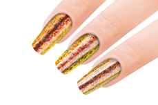Jolifin Mirror-Chrome Flakes - FlipFlop red & gold