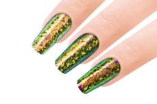 Jolifin Mirror-Chrome Flakes - FlipFlop gold & green
