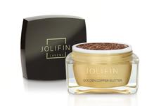 Jolifin LAVENI Farbgel - golden copper Glitter 5ml