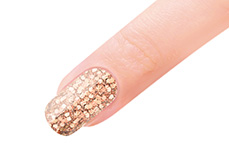 Jolifin LAVENI Farbgel - golden copper Glitter 5ml