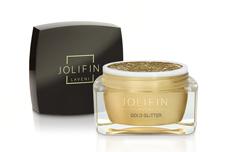 Jolifin LAVENI Farbgel - gold Glitter 5ml