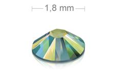 Swarovski Strasssteine - Green irisierend - 1,8 mm